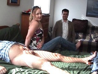 Hot Blonde Jerks Her Day