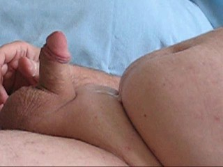 Chubby Guy Jacks His Small Cock