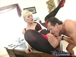 Secretary Kathy Anderson gets cock in anus