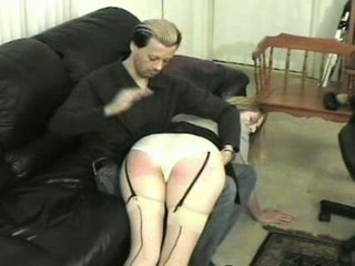 A-cup cutie, spanked and paddled...