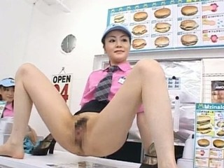 Horny Asian gal has roasting inside...