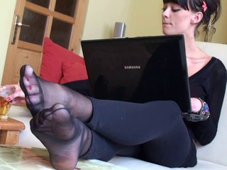 Amazing Brunette Feet Fetish Pornstar Teen