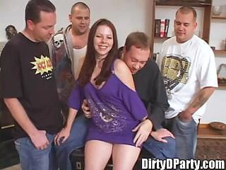 Gemini 18 year old Slut Bukkake Gang Bang for Tampa Bukkake