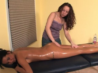 Lesbian Oil Massage - With a...