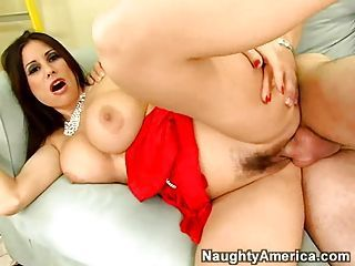 Bitchy hot milf Sheila Marie spreads her slits open and gets boned gaping void