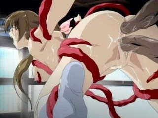 Tentacles rip babe's cloths off...