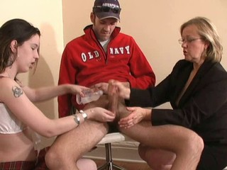 Forced Jerkoff by Mature Woman