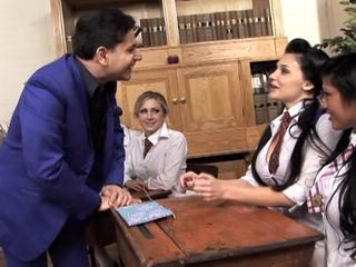 Aletta Ocean and Julia Crown get friendly in class