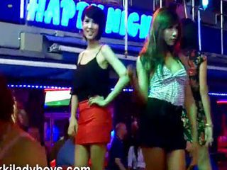 Nikki with ladyboys regarding Phuket Thailand