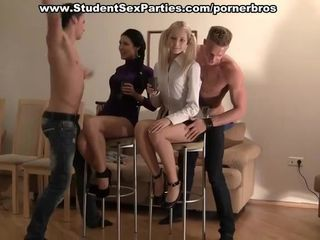 Hot strip tease and group party fucking