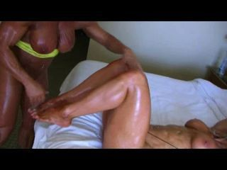 Bodybuilders Lisa and Wanda Lesbian Love Accoutrement 4