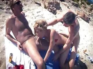 Regina Ice Threesome On Beach