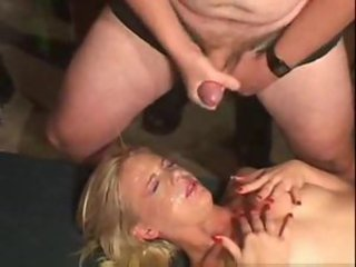 See her face coated in hot cum