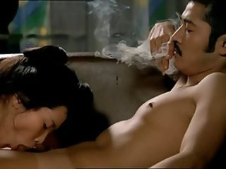 Sexy young Asian fucked and sucks him