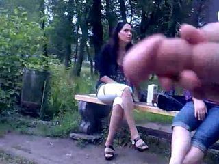 Rus Public FLASH Watching CUM...