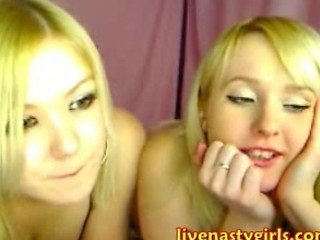 Two Twins Play With Each Other On Webcam