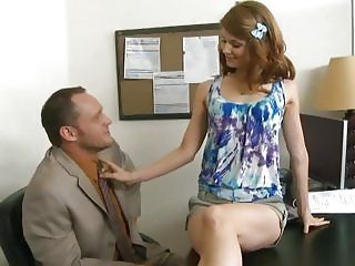 Office Teen Sensi Pearl Knows How To Please The Boss