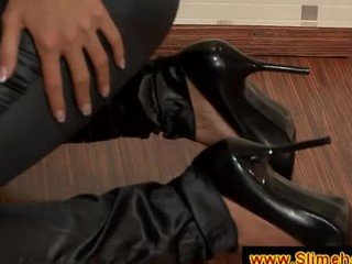 Secretary Makes A Black Cock Cum