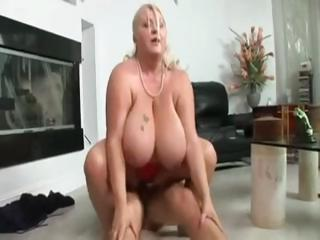 Chubby Large Breasted Blonde Chews On A Cock Before Getting Banging Ri...