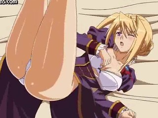 Teen animated blonde gets...