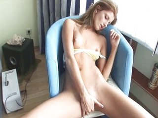 Skinny Babe Making Striptease