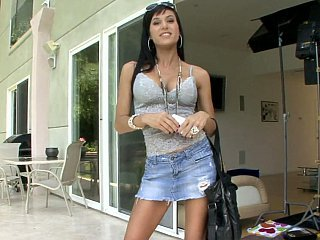 Fashionable Gia Dimarco showing...