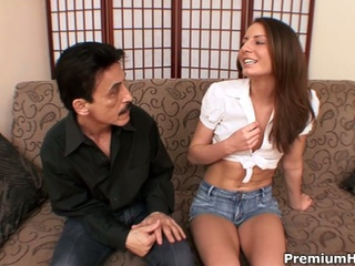 Horny Old Dad Gets Sweet Young Pussy