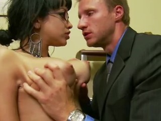 Busty Latina Gets Her Pussy Licked In Office