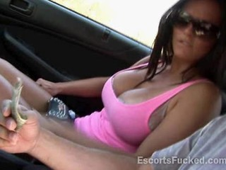 Amateur Babe Big Tits Brunette Cash Car