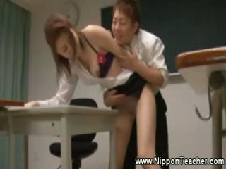 Asian Teacher Fingerfucked By St...
