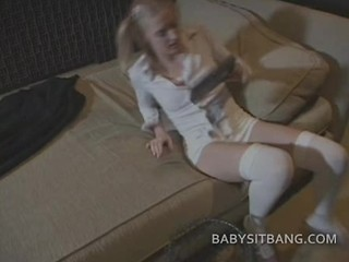 Babysitter Rubs Her Sweet Pussy And Mark time Be beneficial to Dick
