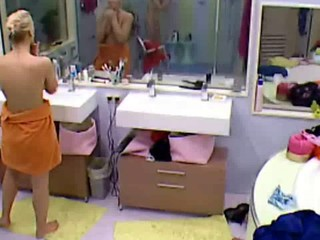 Big Brother Hot Blonde Teen girl nude bathing and showering