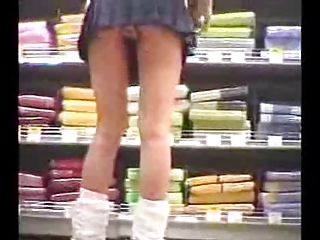 Japanese Girl At Work In Mini Skirt