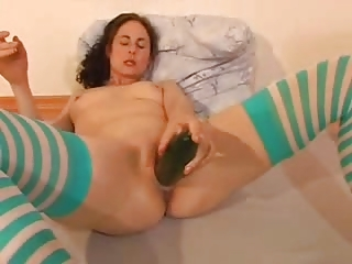 Wet And Creamy Cucumber Orgasm