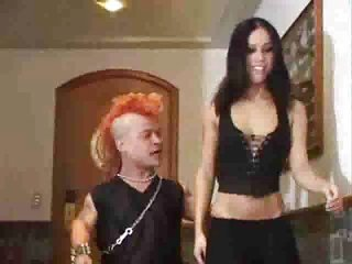 Hot Chick Gets Some Anal From A Midget With A Mohawk...
