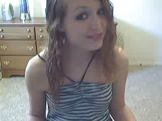 Cute Teen Dildoing On Webcam