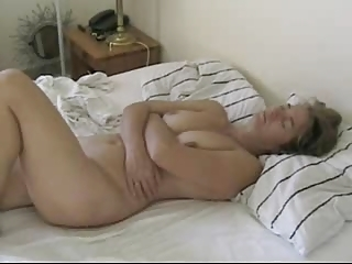 Mature Rubs Her Clit With Hard Cock - With Creampie