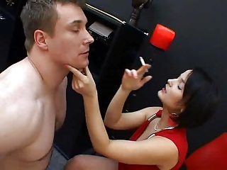 Brunette German MILF Pornstar Smoking