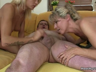 Old couple fuck their son's gf