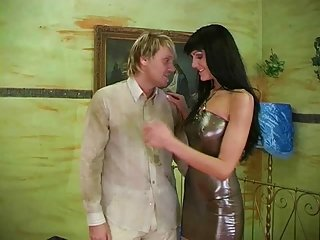 Prostitute Milf in all directions Latex Dress Gets Rode With an increment of Cumed All Over by RB