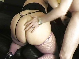 Hot blonde UK MILF fucks with well hung stud