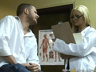 Hot blonde doctor gets turns out that load of shit