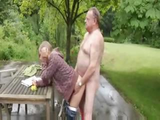 Old Man Fucks Cutie Innocent Blonde
