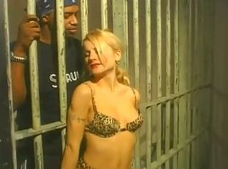 Blonde makes black prisoner happy _: blondes blowjobs interracial