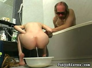 Old pervert almost makes his asian plaything drown