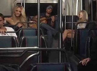 Ride on the bus turns into an orgy