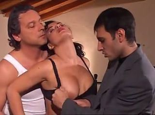 Exclusive Italian Gangbang With Busty Lush Dame Going Crazy Drop Th...