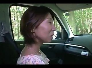 46yr old Yoko Ogino Creampied in the Woods (Uncensored) _: cream pie japanese matures