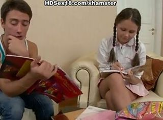 Cute girl with pigtails fucks in the armchair _: cartoons russian teens