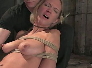 Hogtied bitch brutal pain and pleasure
